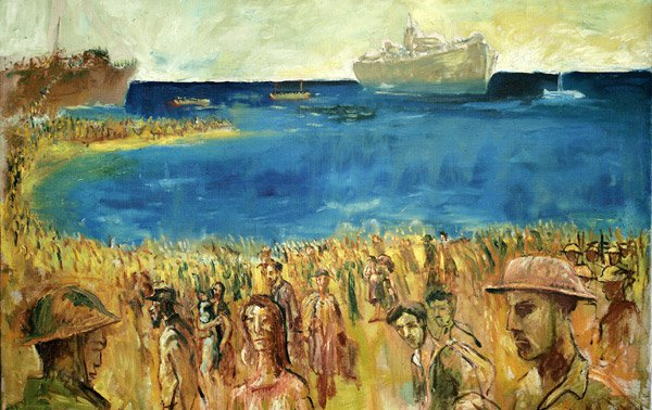 Embarkation of Refugees, 1941, copyright Galerie Martin Suppan