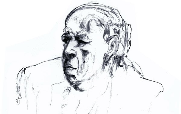 Drawing of Ernst Gombrich by Professor Sybille Moser-Ernst