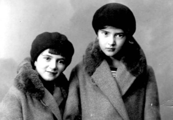 Ruth (left) and her sister Judith