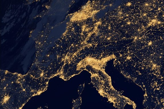 @NASA, Western Europe by Night